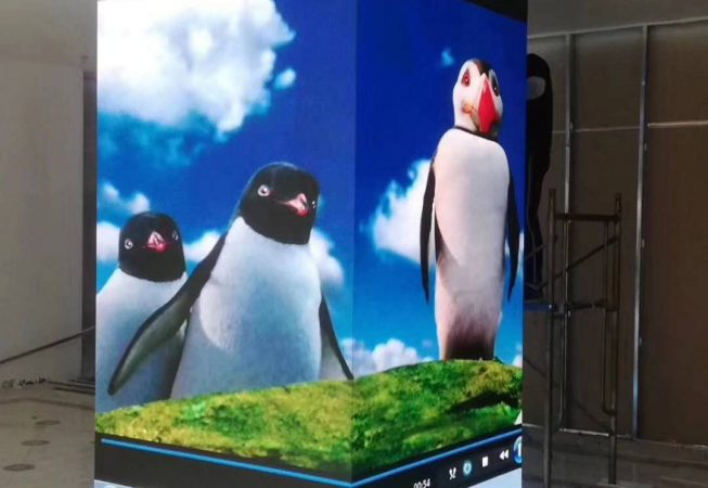 indoor pillar led screen