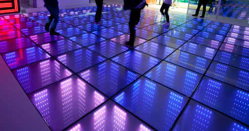 3D interactive LED floor