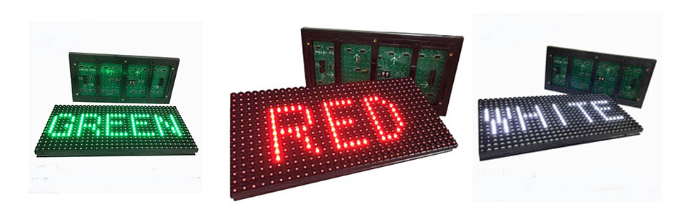 indoor single color led display screen