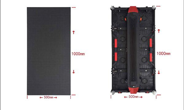 outdoor rental led display 1000x500mm
