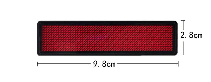 single color mini led display badge